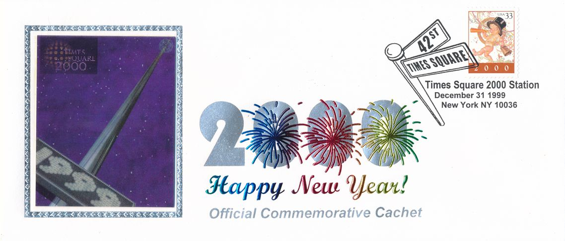 United States sc# 3369 on Cover 2000 Happy New Year Holographic Cachet