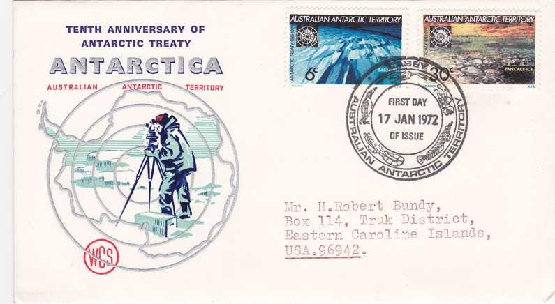 Australia Antarctica Territory FDC L19-L20 - Casey Station