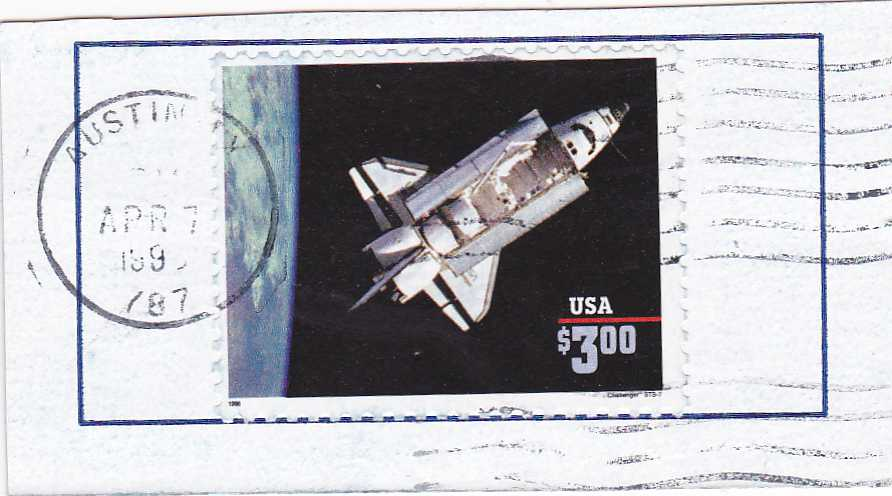 United States sc# 2544b on Piece (dated 1996) - Space Shuttle - pm at Austin TX