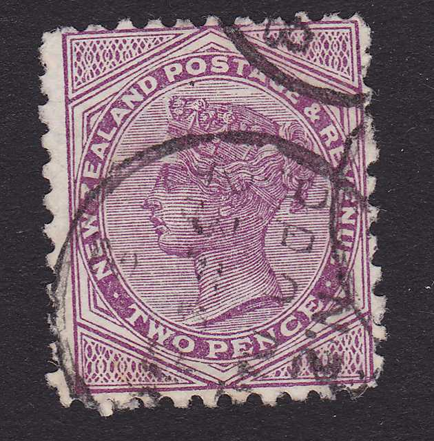 New Zealand #62 Used Single - Queen Victoria