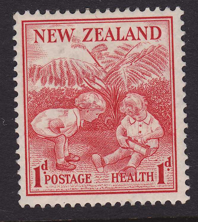 New Zealand #B13 - MLH - 1938 Semi-Postal - Children Playing