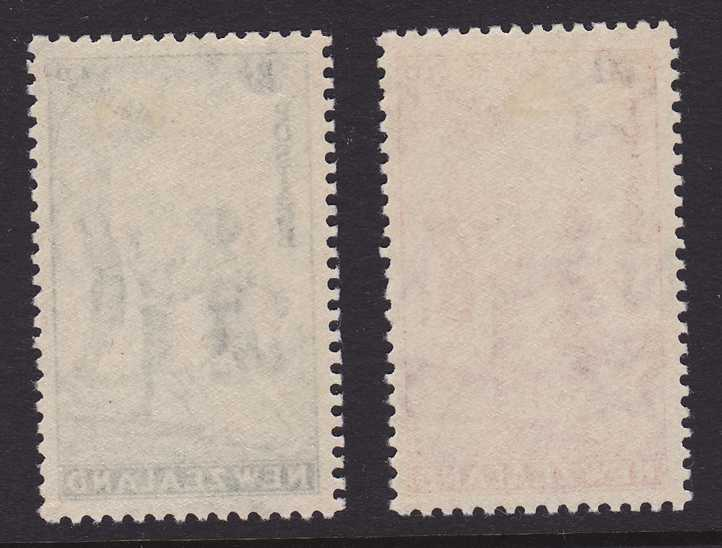 New Zealand #B14-15 - MLH - 1939 Surcharged Semi-Postals - Children at Play