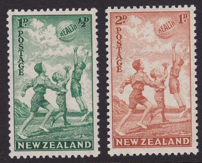 New Zealand #B16-17 - MLH - 1940 Semi-Postals - Children at Play