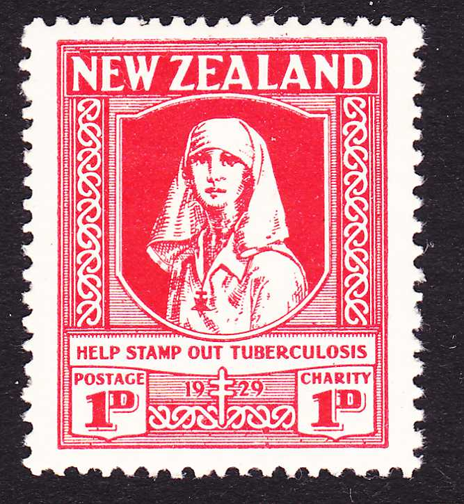 New Zealand #B1 - MLH - Stamp Out Tuberculosis - Semi-Postal
