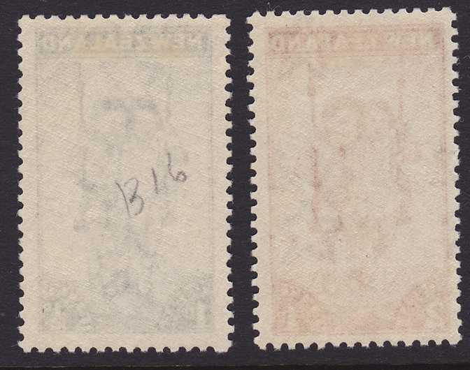 New Zealand #B20-21 - MLH - 1942 Semi-Postals - Children on Swings
