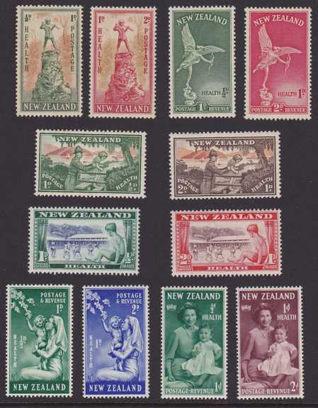New Zealand #B26-37 - MLH - Semi-Postals from 1945 to 1950