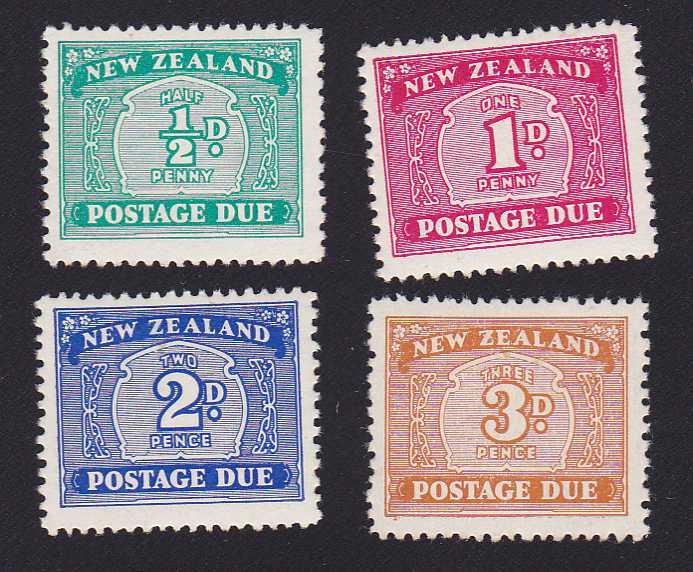 New Zealand #J22-24, 29 - MLH - Postage Due Stamps
