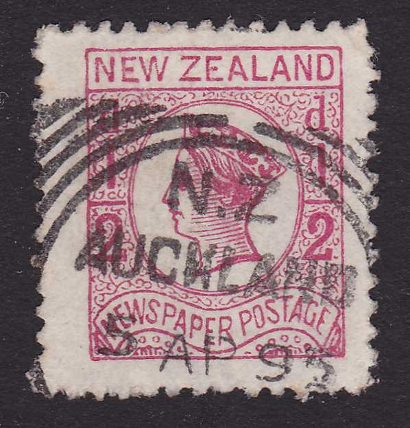 New Zealand #P4 - Newspaper Stamp - Cancelled April 5, 1895 at Auckland