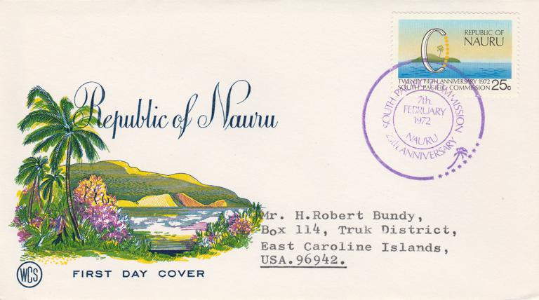 Nauru FDC 1972 sc# 89 - South Pacific Commission