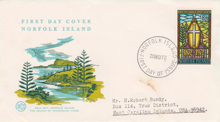 Norfolk Island FDC #151 - 1972 All Saints Church Centenary