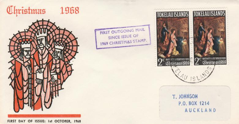 Tokelau 1969 FDC sc# 20 - Christmas Issue