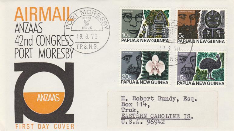 Papua New Guinea 1970 FDC sc# 311-314 - ANZAAS Congress