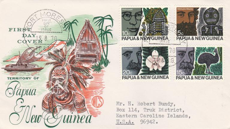 ANZAAS Congress - Papua New Guinea 1970 FDC sc# 311-314