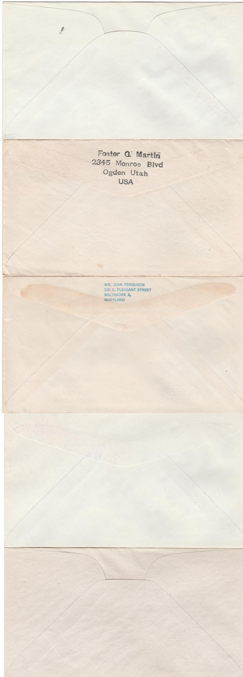 United States FDC's from 1946-48 sc# 946, 940, 947, 953, 954