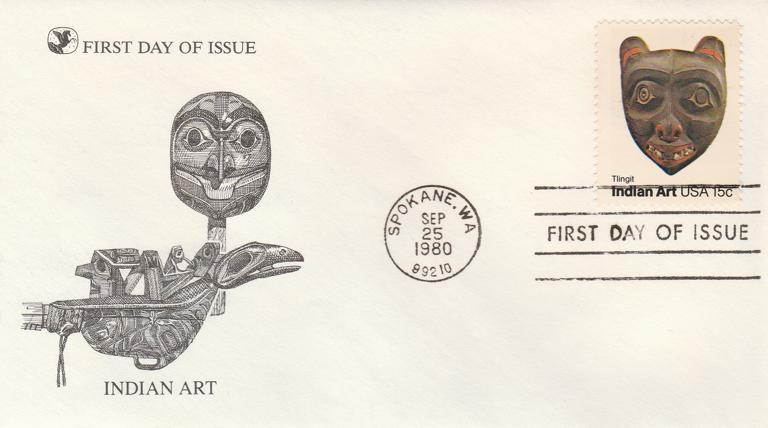 United States sc# 1836 - FDC Indian Art - 25-Sep-80