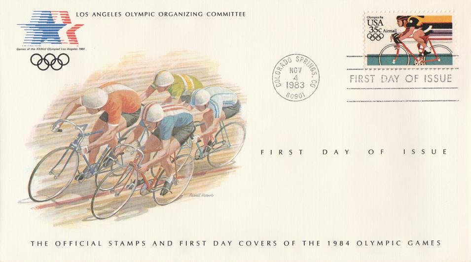 1984 Olympic Bicycling - United States FDC Sc# C110