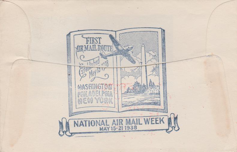 United States sc# C19 - National Mail Week 1938 - pm 1938 at Washington
