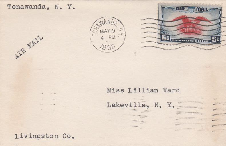 United States sc# C23 - National Air Mail Week - Tonawanda NY 1938 - pm 1938