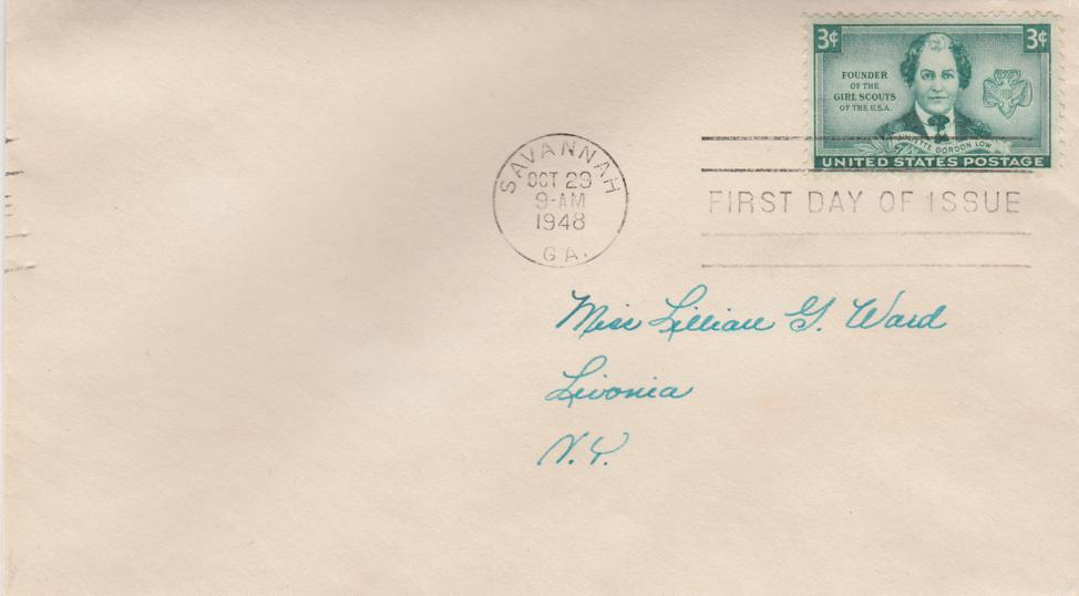 United States sc# 974 FDC - Girl Scout Founder Juliette Gordon Low - 1948