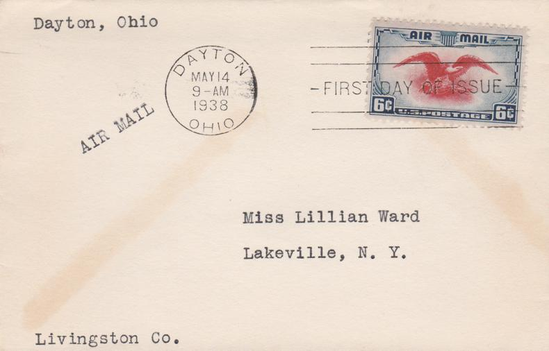 United States sc# C23 - FDC - First Day Cancel at Dayton Ohio May 14, 1938