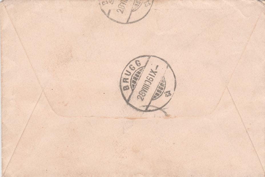 United States Cover from Penfield NY to Switzerland - pm 1906