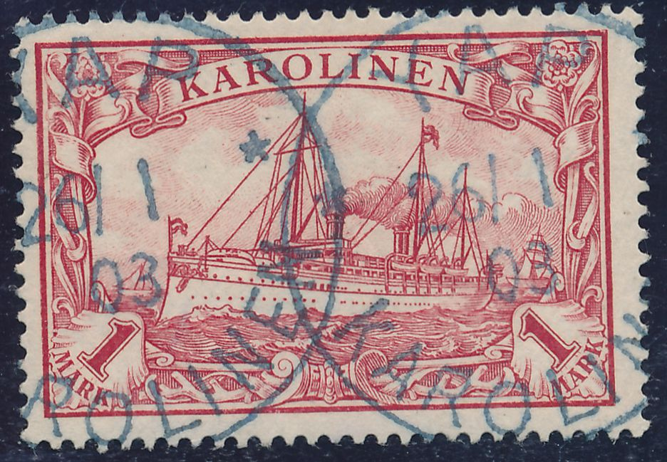 German Caroline Islands sc# 16 - Used Yap Karolinen - 1903 - pm 1903