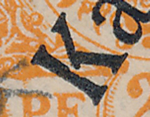 German Caroline Islands sc# 5 - Used in Ponape - Broken K Variety - Karolinen