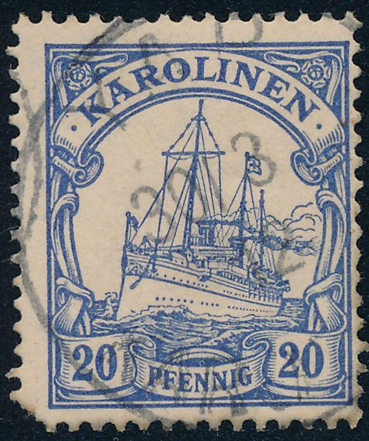 German Caroline Islands sc# 10 - Used - Yap Karolinen - March 30, 1912 - pm 1912