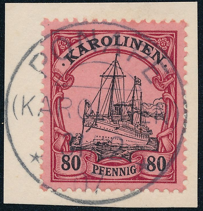 German Caroline Islands sc# 15 on Piece Ponape 1907 - Mansfeld Expert - Karolinen - pm 1907