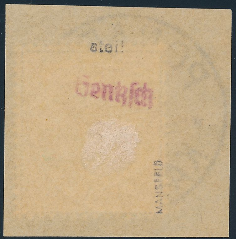 German Caroline Islands sc# 2 - Used Crown Single on Piece - Ponape Karolinen 1900