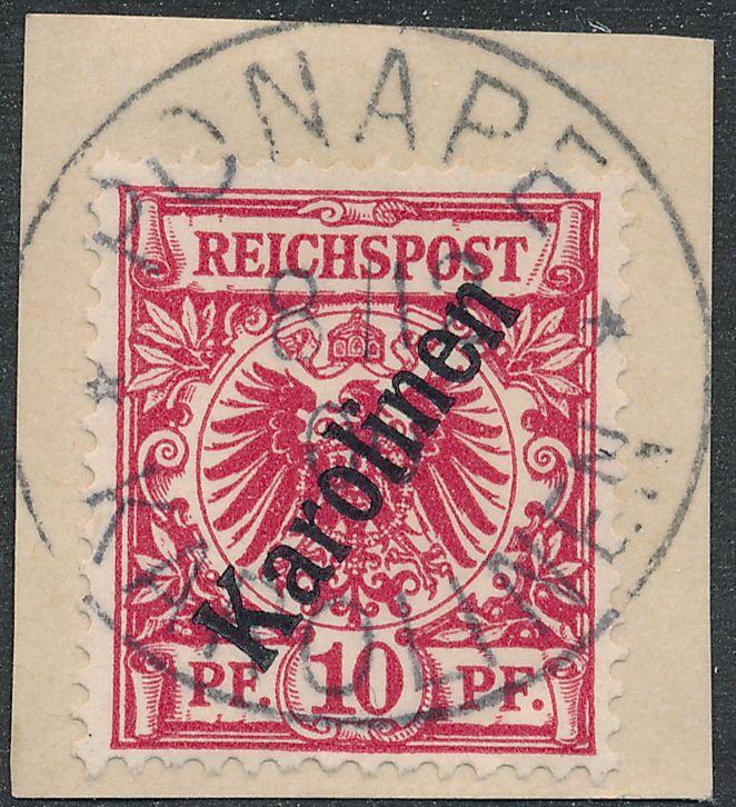 German Caroline Islands sc# 3 on Piece - Ponape 1900 - Karolinen