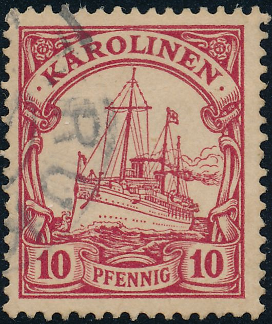 German Caroline Islands sc# 9 - Used Karolinen - Partial Truk Cancel