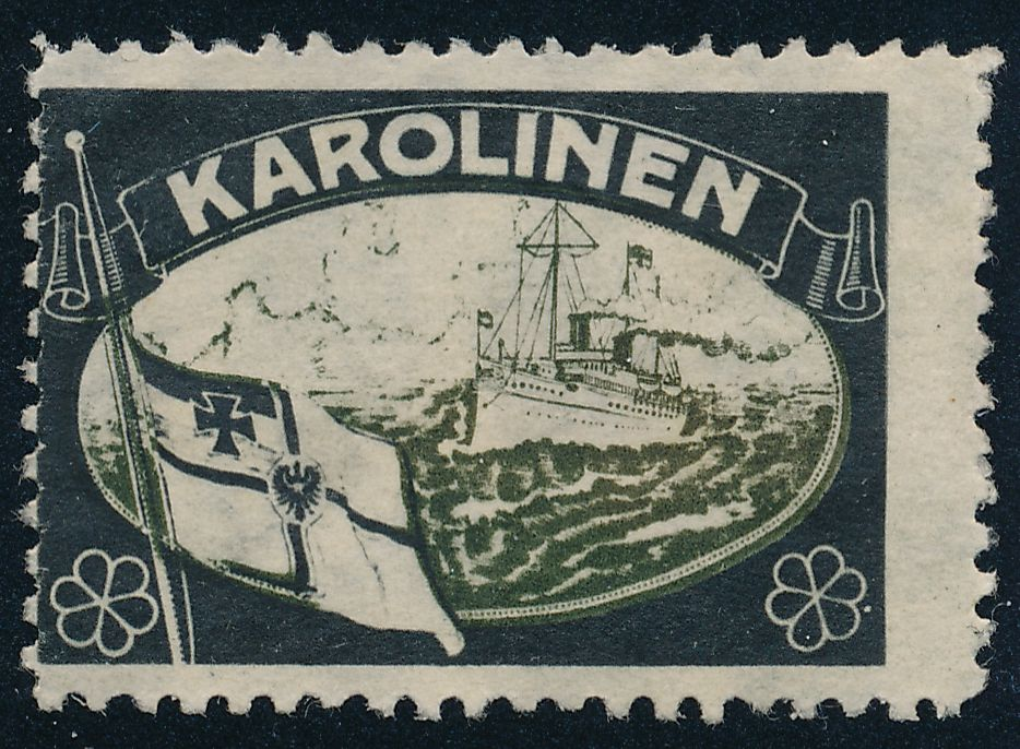 German Caroline Islands - Karolinen - Shipping Label