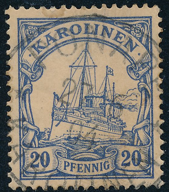 German Caroline Islands sc# 10 - Used 1904 - Ponape -Karolinen