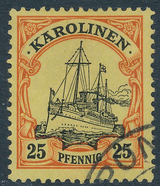 German Caroline Islands sc# 11 - Used Partial Ponape Karolinen