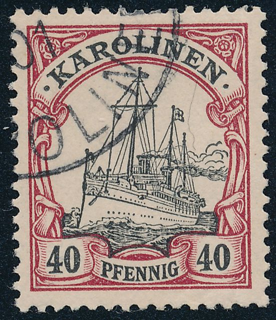 German Caroline Islands sc# 13 - Used 1901 Cancel - Karolinen