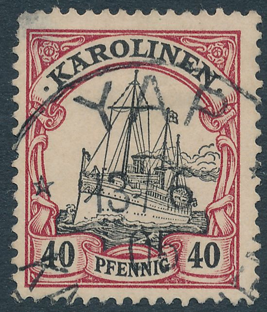 German Caroline Islands sc# 13 - Used - YAP Karolinen - 1905