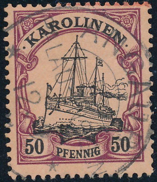 German Caroline Islands sc# 14 - Used Angaur Palau - Karolinen
