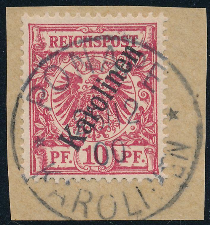 German Caroline Islands sc# 3 - Used on Piece - Cancel Ponape Christmas 1900 - pm 1900