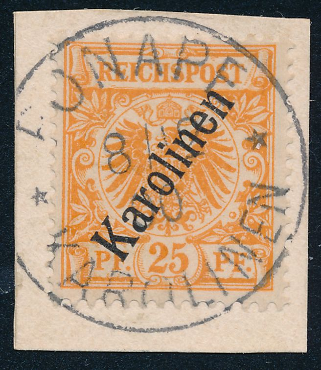 German Caroline Islands sc# 5 - Used on Piece - Ponape 1900 - Karolinen