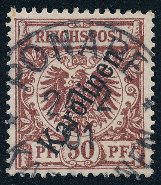 German Caroline Islands sc# 6 Used 1901 Ponape - Karolinen