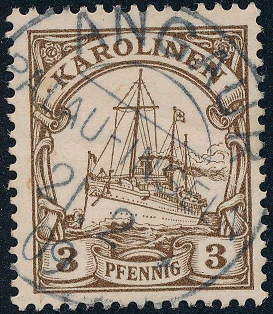 German Caroline Islands sc# 7 - Used Angaur Palau-Inseln - Karolinen - pm 1905