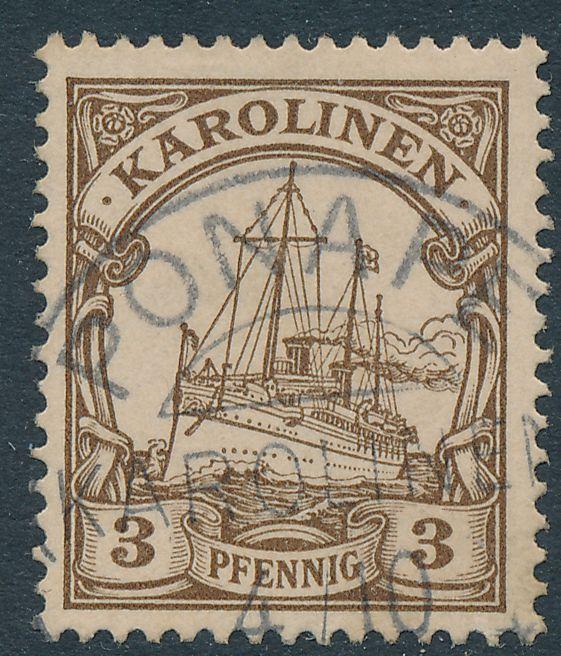 German Caroline Islands sc# 7 Used with Ponape Cancel - Karolinen