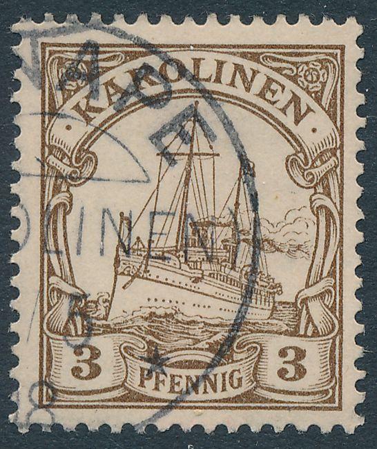 German Caroline Islands sc# 7 Used with partial 1908 Ponape Cancel - Karolinen
