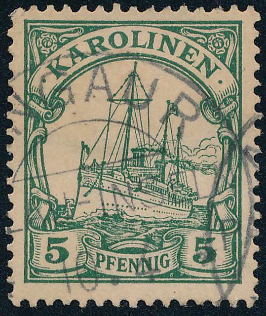 German Caroline Islands sc# 8 - Used Angaur Palau - Karolinen
