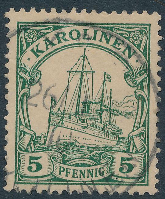 German Caroline Islands sc# 8 - Used at YAP Karolinen - 1910