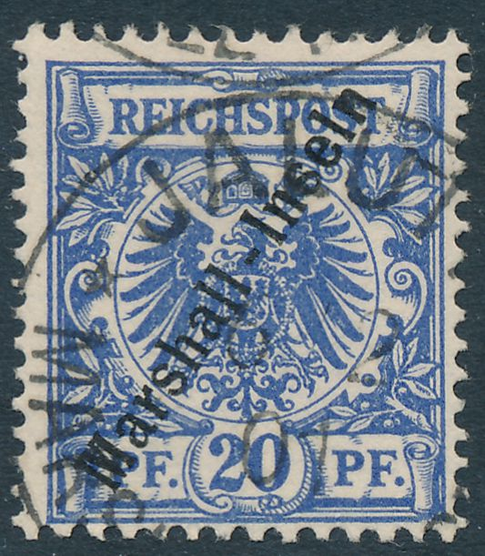 German Marshall Islands sc# 10 Used at Jaluit in 1901