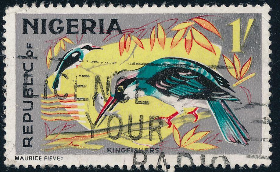 Nigeria sc# 192 - Used - Slogan Cancel - Licence Your Radio