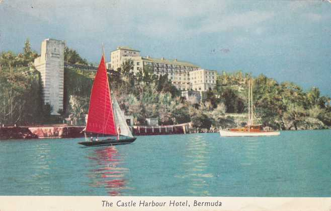 The Castle Harbour Hotel Bermuda Pm 1954 At Hamilton